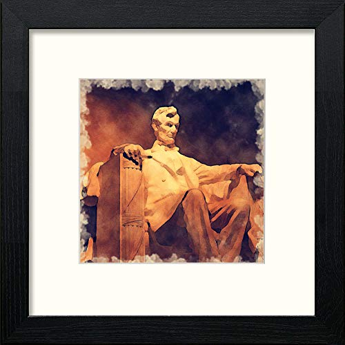 L Lumartos Lincoln Memorial Contemporary Home Decor Wall Art Watercolour Print - [Lumartos]