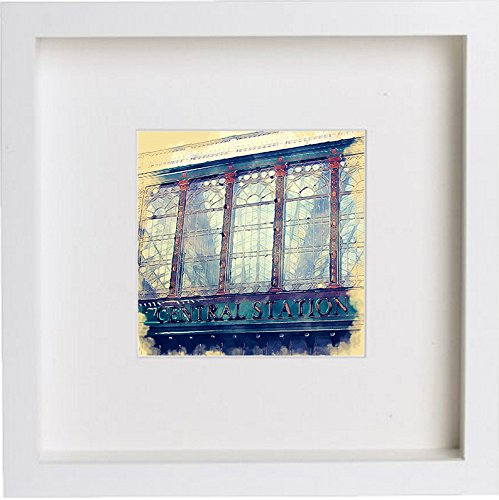 Glasgow Hielanman Umbrella Watercolour Print Home Office Gift Birthday Anniversary 0047 - [Lumartos]