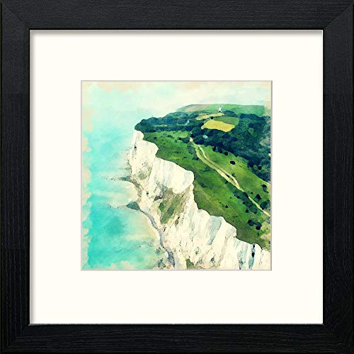 Lumartos, White Cliffs Dover Contemporary Home Decor Wall Art Watercolour Print - [Lumartos]
