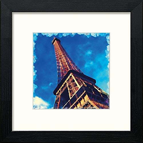 Lumartos, Paris Eiffel Contemporary Home Decor Wall Art Watercolour Print - [Lumartos]