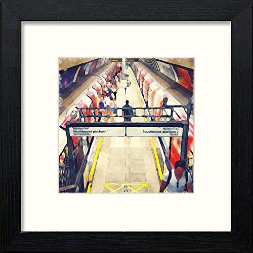 L Lumartos London Underground Clapham North Contemporary Home Decor Wall Art Watercolour Print - [Lumartos]