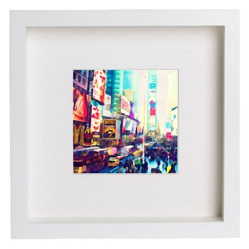 Watercolour Print of New York City Collection Times Square 159 - [Lumartos]