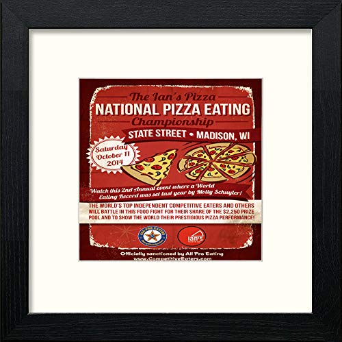 Vintage Poster National Pizza Eating - LUMARTOS