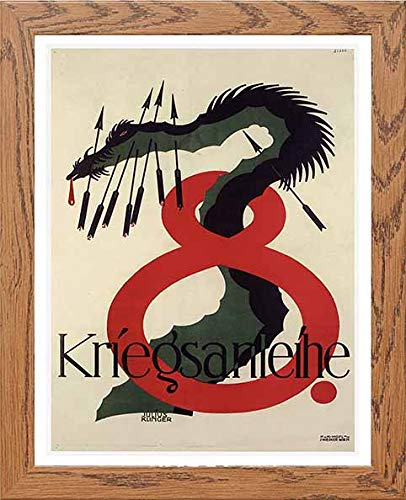 Vintage Poster Kriegsanleihe 8th War Loan, Black, A3 - LUMARTOS