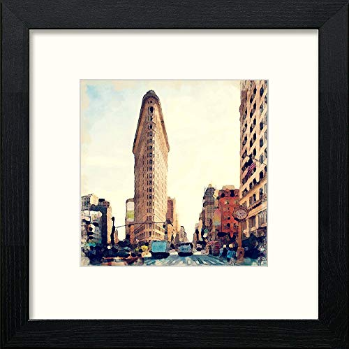 L Lumartos Flatiron Building Contemporary Home Decor Wall Art Watercolour Print - [Lumartos]