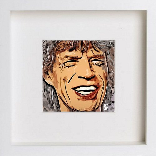 Watercolour Print of Mick Jagger 145