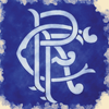 Watercolour Print of Glasgow Rangers Football Club Scroll Crest Artwork 0061 - [Lumartos]