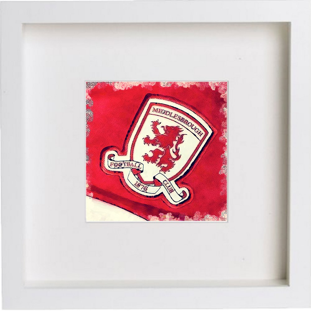 Print of Middlesbrough Football Club Crest Badge 0146