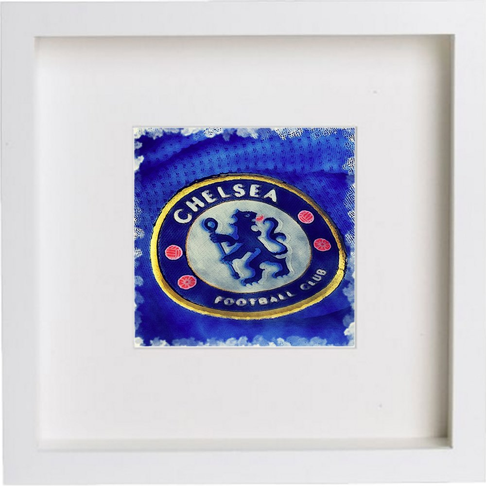 Watercolour Print of Chelsea Football Club Crest Badge 0016 - [Lumartos]