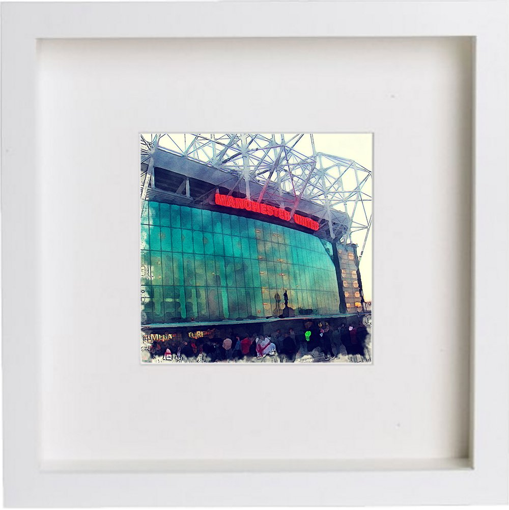 Watercolour Print of Manchester United, Old Trafford 139