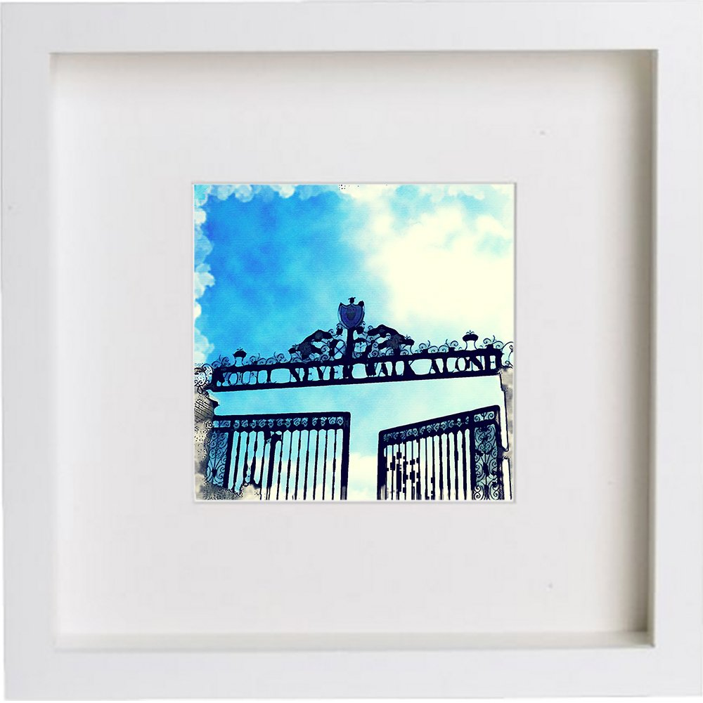 Watercolour Print of Liverpool Football Club, The Shankly Gates 100