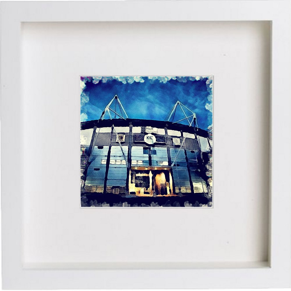 Watercolour Print of Hull City Association Football Club, The KCOM Stadium 87