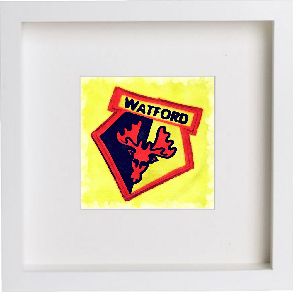 Print of Watford Football Club Crest Badge 0203
