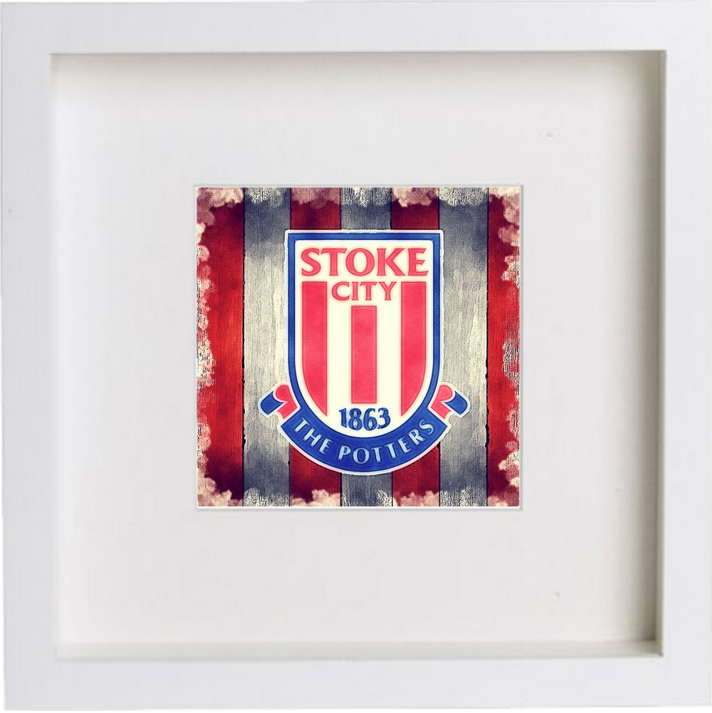 Watercolour Print of Stoke City Football Club Crest Badge 186