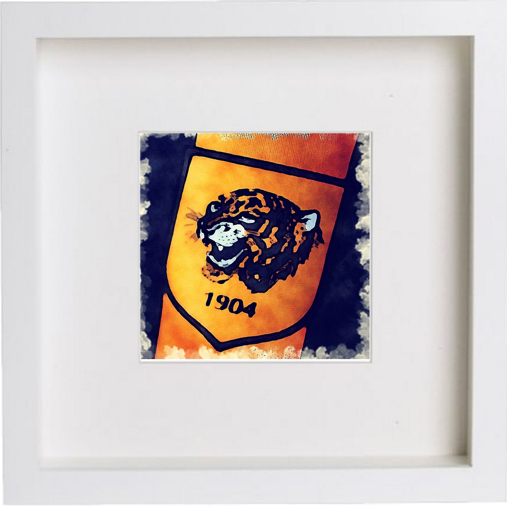 Print of Hull City Association Football Club Crest Badge 0086