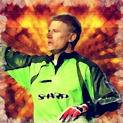Watercolour Print of Manchester United Legends - Peter Schmeichel 136