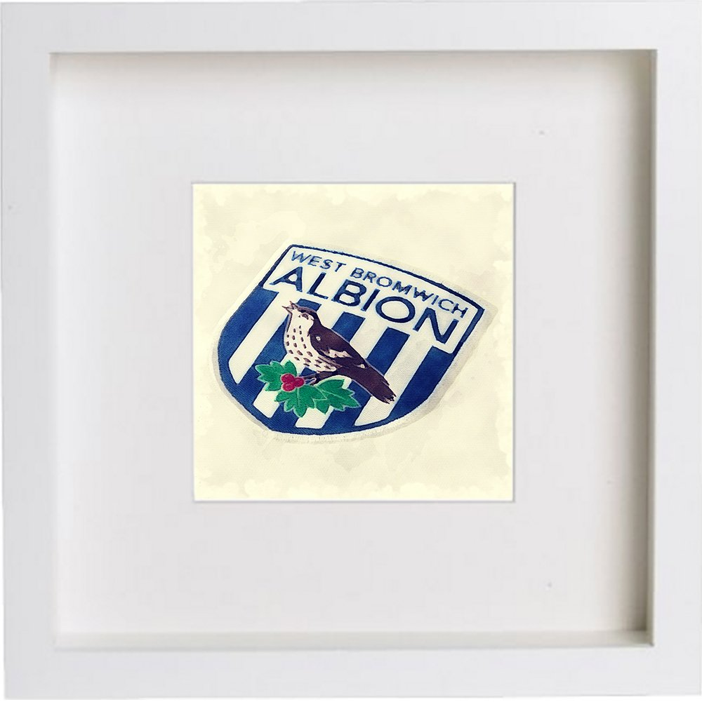 Watercolour Print of West Bromwich Albion Football Club Crest Badge 205 - [Lumartos]