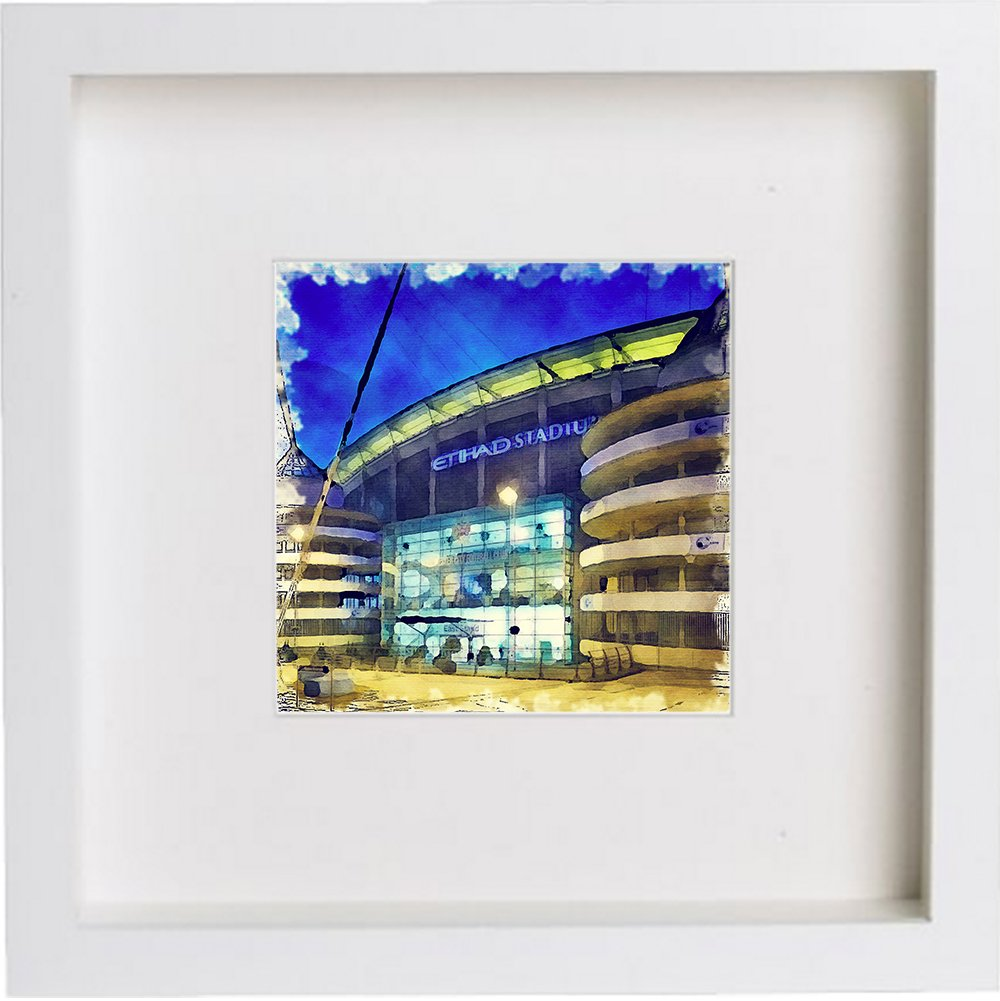 Print of Manchester City Football Club, The City of Manchester Stadium 0126