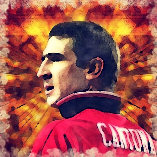 Watercolour Print of Manchester United Legends - Eric Cantona 133