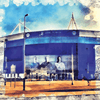 Print of Leicester City Football Club, The King Power Stadium 0096