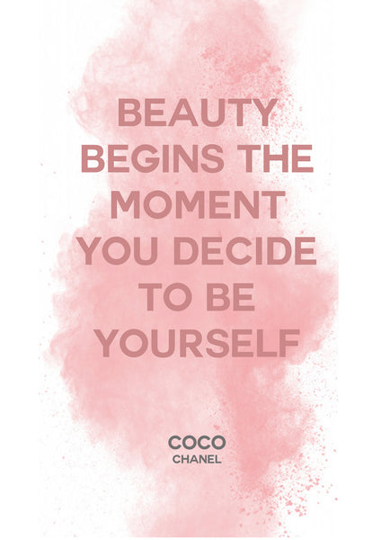 Coco Beauty Begins Quote Print - [Lumartos]