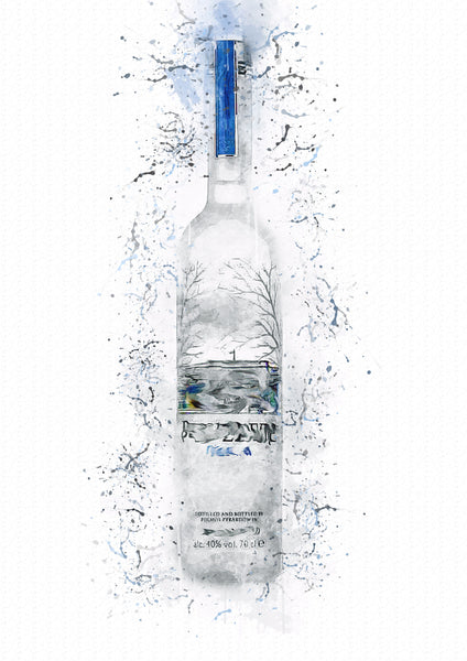 Belve Vodka Splash Print - LUMARTOS