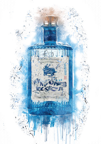 Powder Gin Splash Print - LUMARTOS