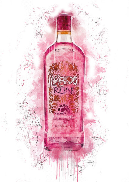 Spanish Rose Splash Print - [Lumartos]