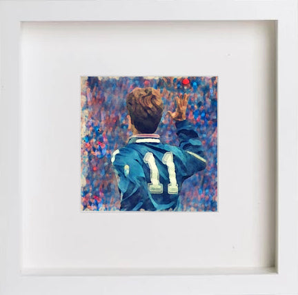 Watercolour Glasgow Rangers Legend Brian Laudrup 0262