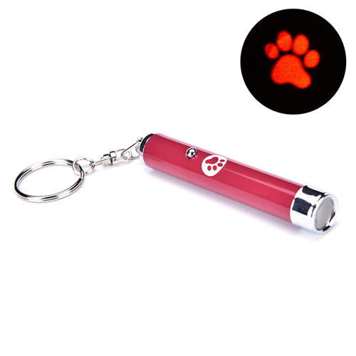 Portable Creative Funny Pet Cat Toys LED Laser Pointer light Pen With Bright Animation Mouse Shadow