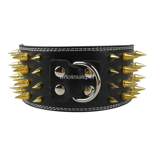 Studded Leather Pet Dog Collar