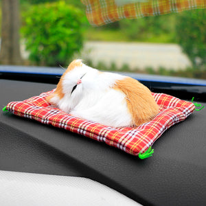 Cute Simulation Sleeping Cats Decoration