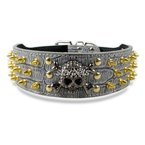 Spiked Studded Leather Dog Collar