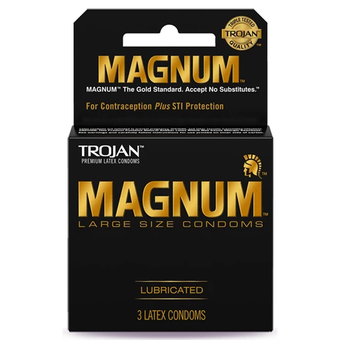 TROJAN MAGNUM LUBRICATED 3S