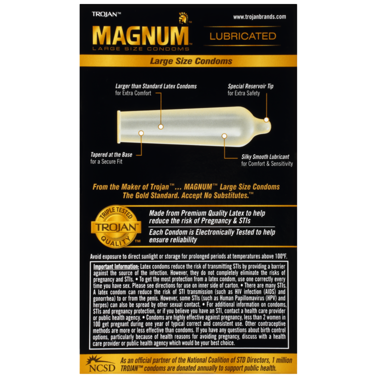TROJAN MAGNUM LUBRICATED 12S