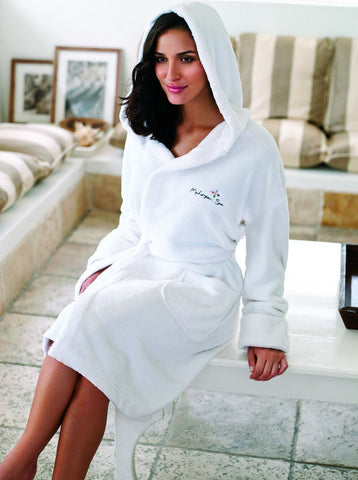 Coral Fleece Bathrobe with Hood 1 Main