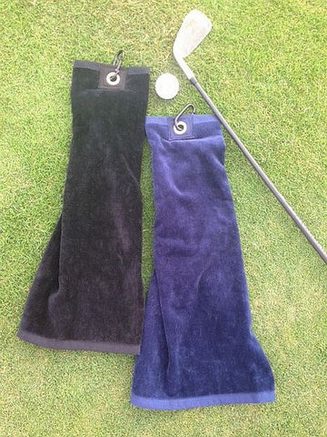Luxury velour Golf towel with carabiner 1 Main