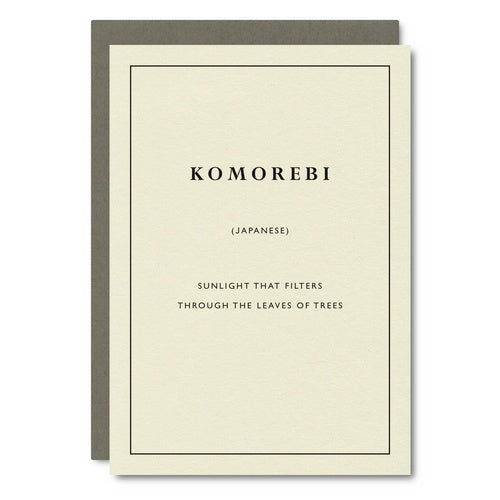 Komorebi (Japanese) - Cultured Words Card