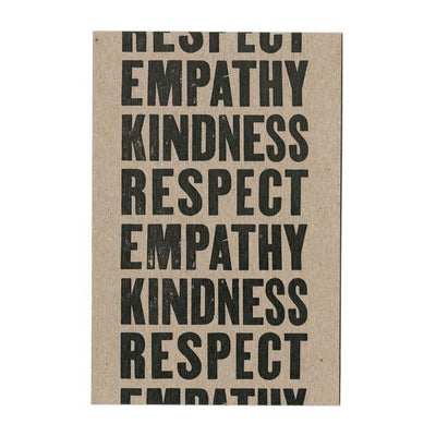 Empathy Kindness Respect Postcard