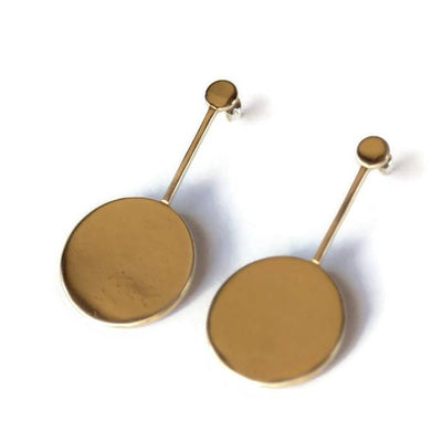 Material Wit - Brass - Compass Earrings