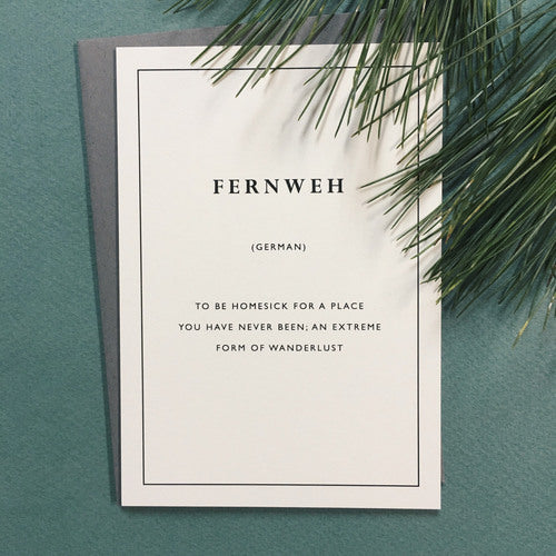 Fernweh Card Greeting Card Little City Love - Stash Co