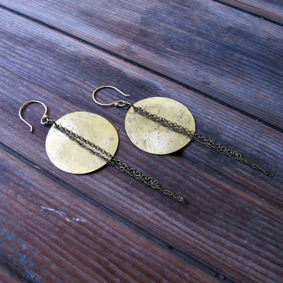 Tangleweeds - Full Moon Eclipse Earrings