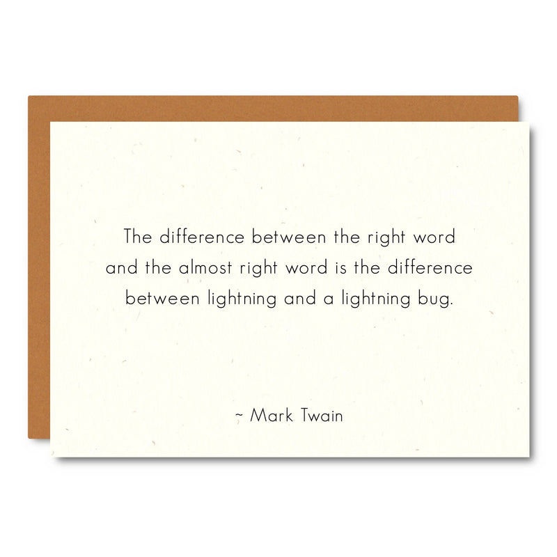 Mark Twain (Lightning) Card