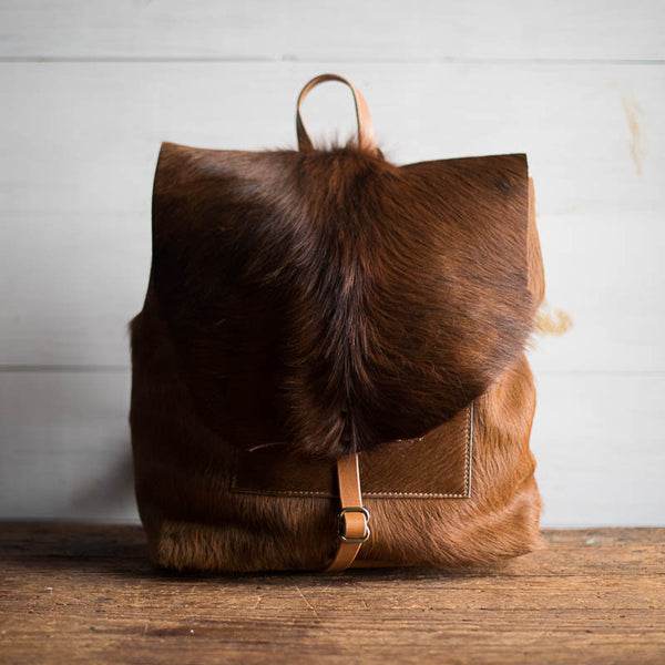 Artisan Backpack | Toasted Caramel Hair Hide - Stash Co