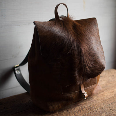 Artisan Backpack | Toasted Caramel Hair Hide Backpack Stash - Stash Co