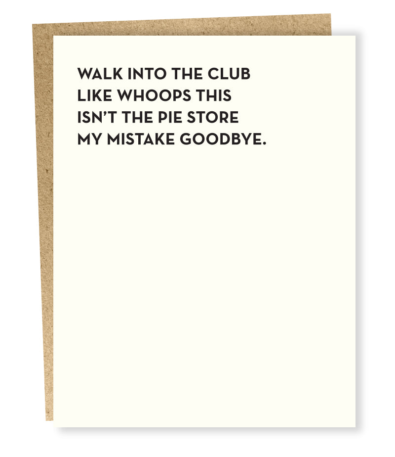 The Club Greeting Card