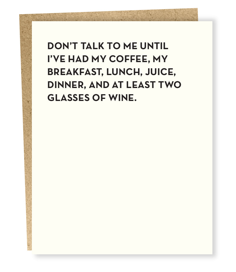 Don't Talk To Me Greeting Card Greeting Card Sapling Press - Stash Co