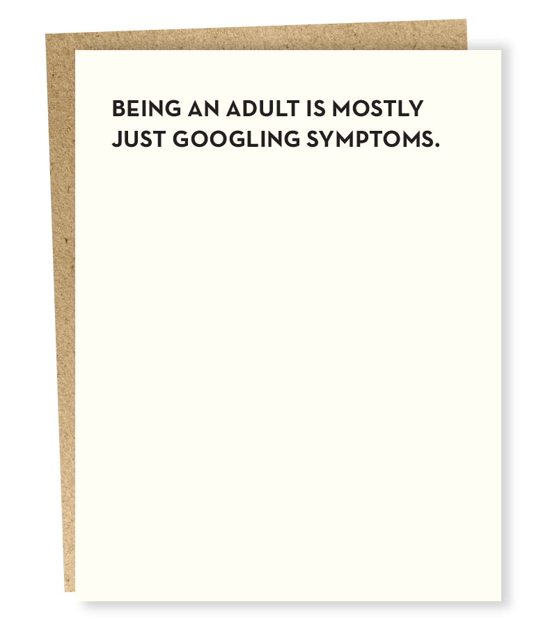 Symptoms Greeting Card