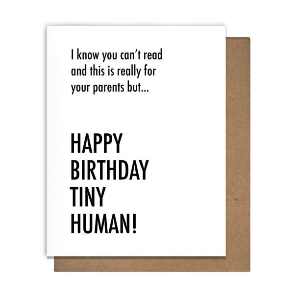Tiny Human Birthday Card Greeting Card Matt Butler - Stash Co