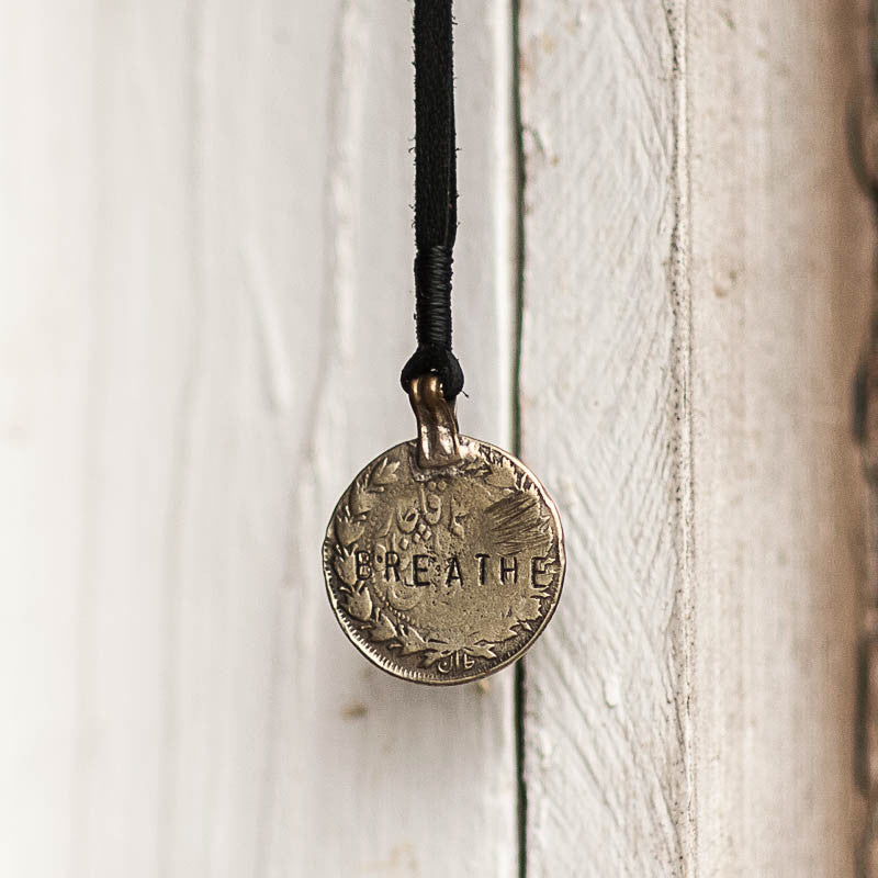 Mantra Coin | Breathe Necklace Stash - Stash Co
